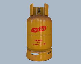 Gas Cylinder Yellow 3D asset