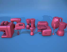 Stylized Kitchen Tool Set 3D model
