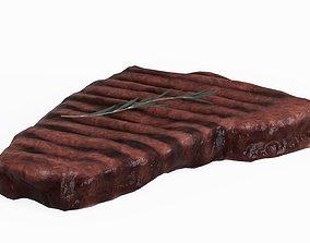 3D model Steak with Rosemary