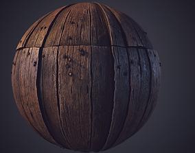 3D model Wood Plank Substance Designer Material and Video
