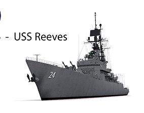 CG 24 - USS Reeves 3D asset