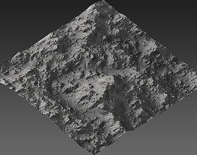3D asset Large-Scale Moon Environment