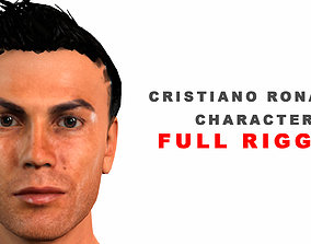 Cristiano Ronaldo 3D model full rigged and animated
