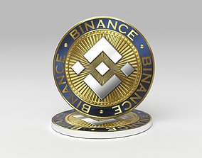 Binance coin BNB 3D