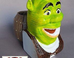 desk Shrek Pen Holder 3D print model