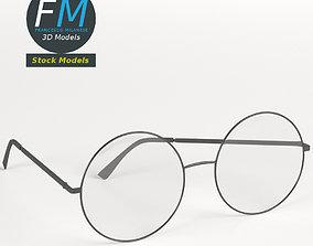 3D model PBR Round glasses