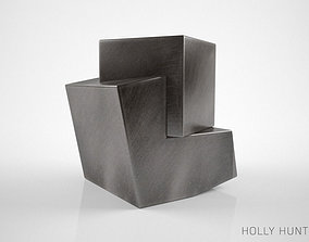 Holly Hunt Pyrite side table 3D