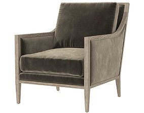 3D Restoration Hardware FRENCH SLOPE ARM LOW BACK CHAIR