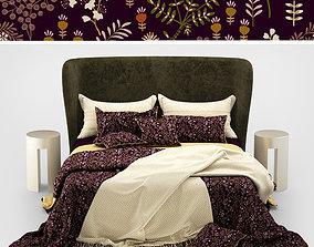 Turpault Lauren meridiani classic bed 3D