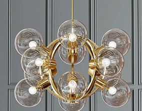 Atomic Gold Glass Sputnik Chandelier 3D model