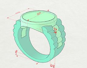 3D print model A signet ring