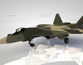 3D model Modern multi-purpose aircraft SU-50