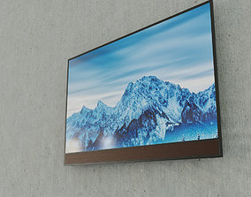 3D model Low-Poly Flat Screen TV Set