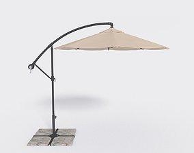 3D asset Deck Umbrella - Parasol 4