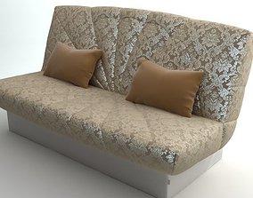 3D Sofa with 2 pillows