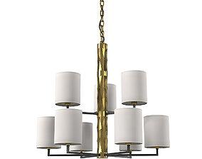 Officina Luce Flaire 416 bb 22 Art Deco Round 3D model