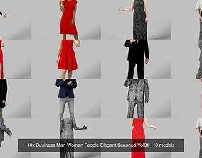 10x Business Man Woman People Elegant Scanned 3D model
