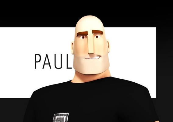 Paul Stylised Male character
