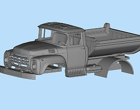 All parts are separated Truck ZIL 130 Printable Body 1