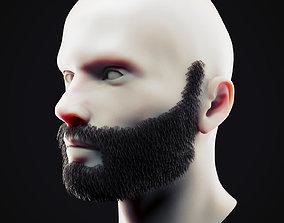 3D model Beard Low Poly 12