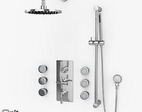 Shower body massage Helix Hudson Reed 3D model zazzeri
