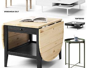 set of 8 tables ikea 3D model