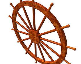3D model Ship Steering Wheel