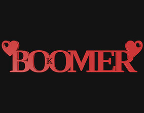 3D print model OK Boomer Pendant