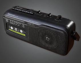 CLA - Radio - PBR Game Ready 3D model
