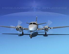 Beechcraft King Air 100 Bare Metal 3D
