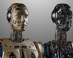 Futuristic Robot Man 3d Model no RIG