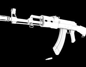 gun AK-47 3D model