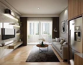 3D model Apartement One Bedroom Modern