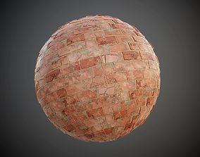 3D Concrete Brick Wall Damaged Seamless PBR Texture
