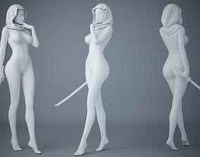 Female ninja 3D printable model