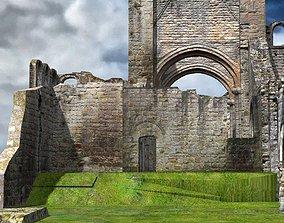 3D Abbey In Ruins Monastery
