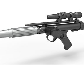 Rebel Fleet Trooper Blaster pistol DH-17 from 3D model 2
