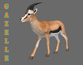 ANIMATED GAZELLE 3D MODEL animated
