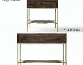 furniture Bernhardt Clarendon Nightstand 3D