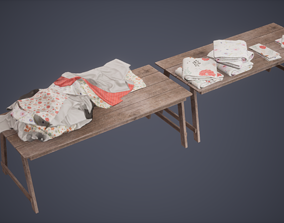Clothes Set Low Poly Game Ready 3D asset