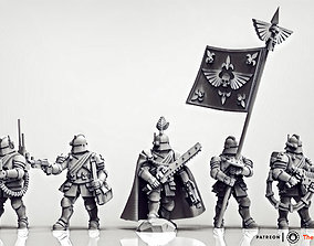 Feudal Guard Command Squad 3D printable model