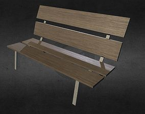 3D model Bench - low poly