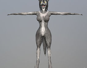 dracon85 Grey Werewolf Female 3D model
