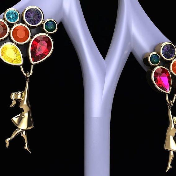 Children's balloon earrings