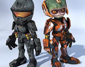 Cartoon SF Troopers-Pack 3D