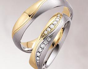 Wedding rings 019 3D print model