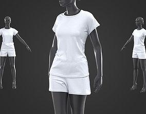 Women sports outfit Marvelous Designer Clo3D