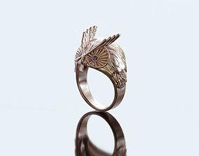 Owl ring jeweler 3D printable model