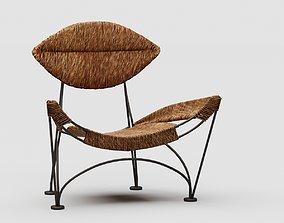 Tom Dixon 1984 hemp rope and iron armchair furniture 3D