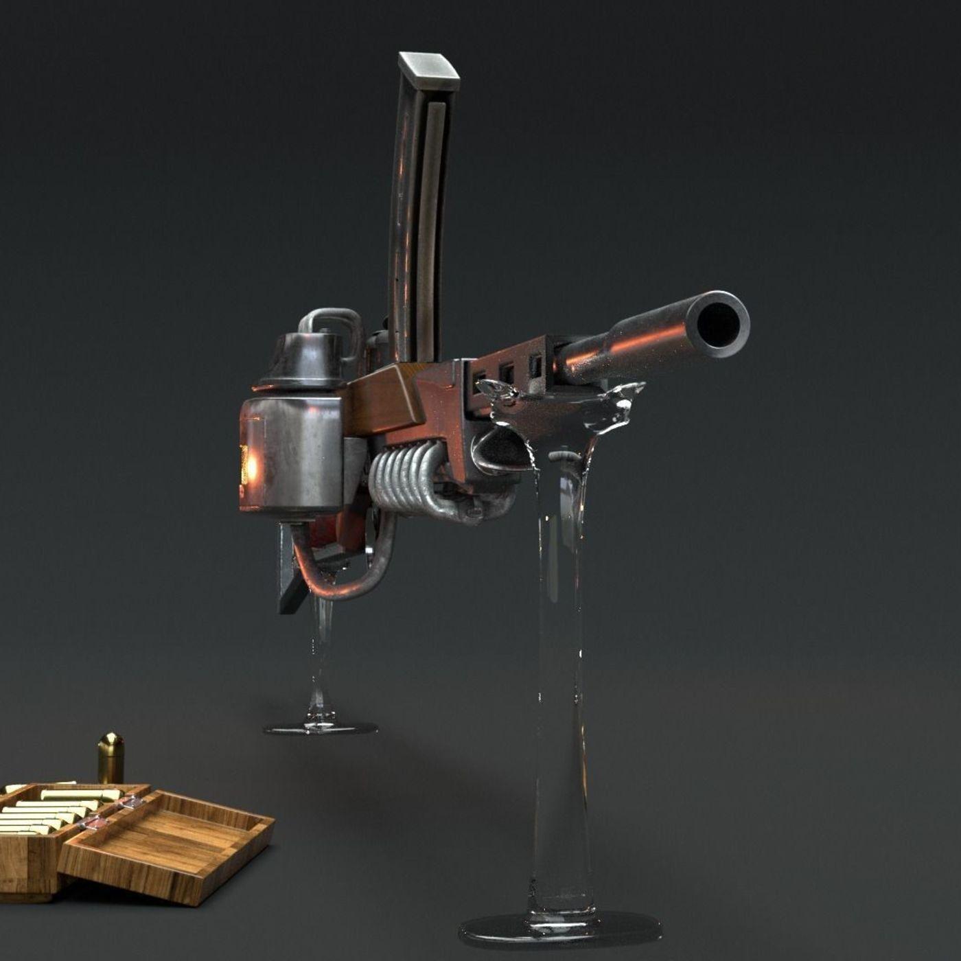 steam rifle.